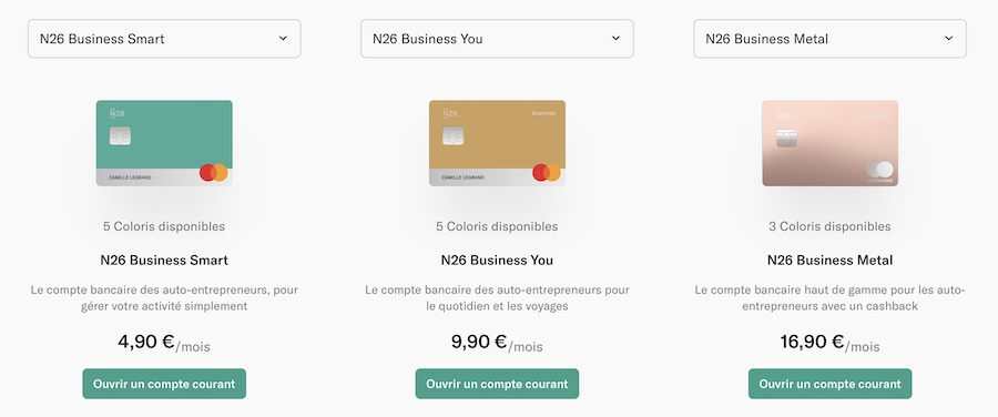 N26 compte business